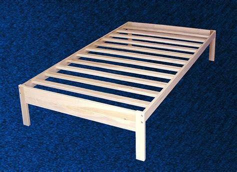 wood platform bed frame twin size solid hardwood ebay