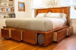 Walmart Bed Frames Queen by Diy King Size Platform Bed Storage Nortwest Woodworking