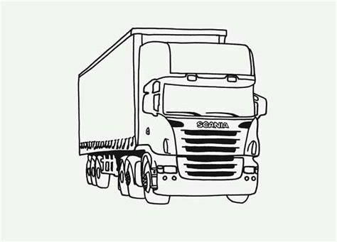 tractor trailer semi truck coloring page  print  coloring pages