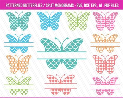 butterfly svg cutting filesdxf patterned butterflies