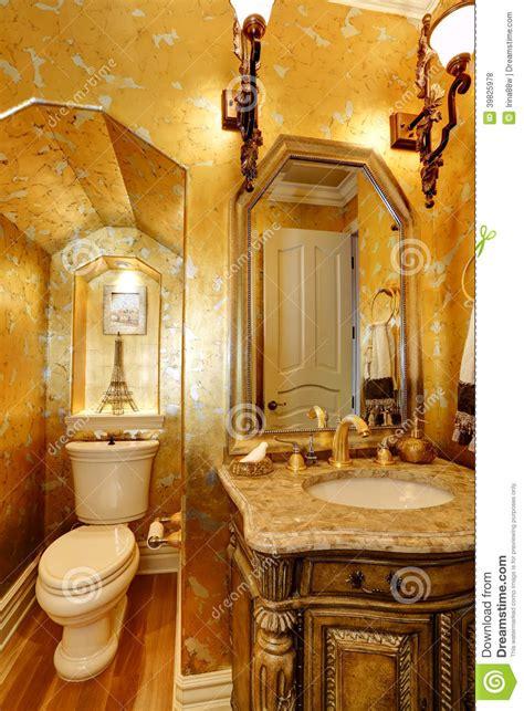 bagno antico delloro  stile fotografia stock immagine