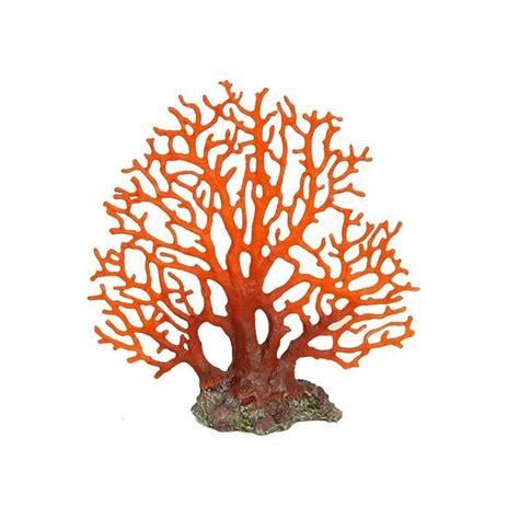betta large red sea fan coral aquarium ornament fish tank