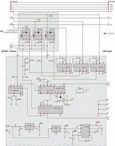 Scart To Vga Converter Cable Scheme  U00b7 Allpinouts