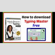 How To Download Typing Master Pro Full Version Youtube