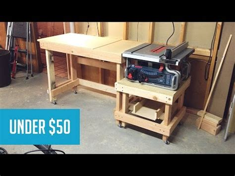 mobile tablesaw station part  youtube