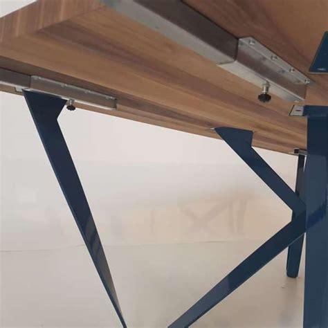 table metal et bois table design extensible en m 233 tal et bois wave 4 pieds tables chaises et tabourets