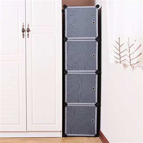 Plastic Cupboard For by Songmics Diy Plastic Clothes Wardrobe Interlocking Cube