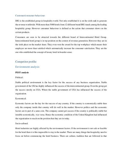 Marketin overview of Intercontinental Hotel Group (IHG)