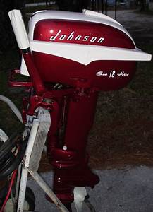 Restored Johnson 18 Hp Outboard Boat Motor For Sale