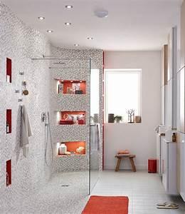 amazing modele de salle de bain avec douche al italienne With modele de salle de bain avec douche al italienne