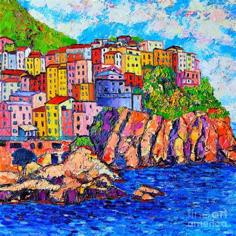 Manarola Cinque Terre Italy Detail Painting By Ana Maria