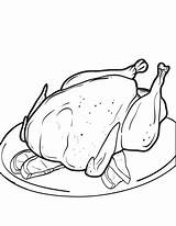 Turkey Coloring Thanksgiving Cooked Chicken Printable Drawing Pages Getdrawings Getcolorings Mpmschoolsupplies Sharon sketch template