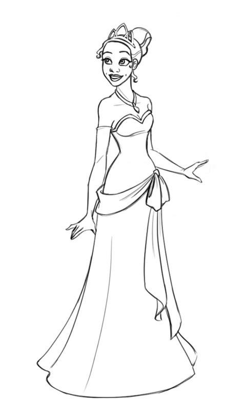 princess tiana coloring pages   print