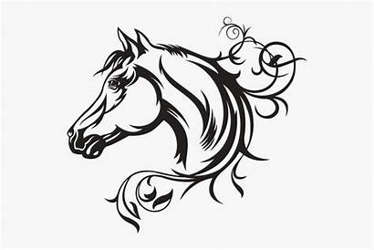 Horse Head Quarter Vector Silhouette Decal American