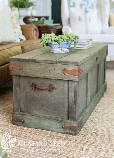 pottery barn trunk coffee table trunk with distressed paint finish