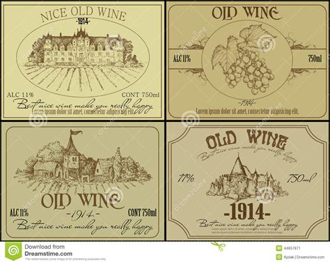 set of wine labels stock vector image 44657871