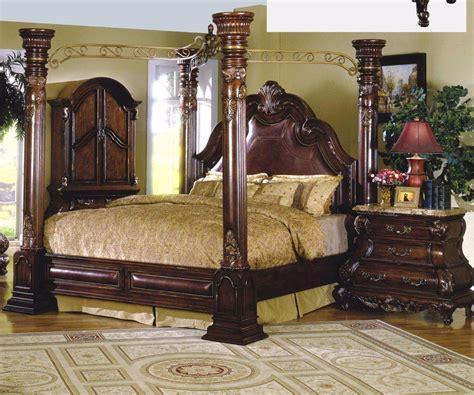 buy mcferran monaco king canopy bedroom set  pcs
