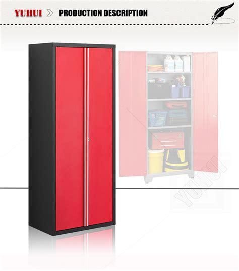 red and black garage cabinets direct sale powder coating kd 2 door steel workshop garage