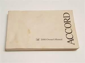 2000 Honda Accord Owners Manual User Guide V6 3 0l V4 2 3l Dx Se Ex Lx Vp Sedan
