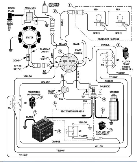 wiring diagram  murray lawn tractor