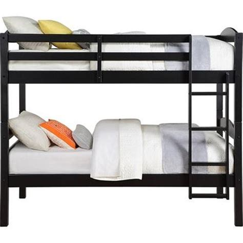 mainstays wood bunk bed solid wood bunk bed in black by