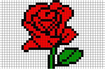 Pixel Rose Patterns Flower Beast Beauty 8bit