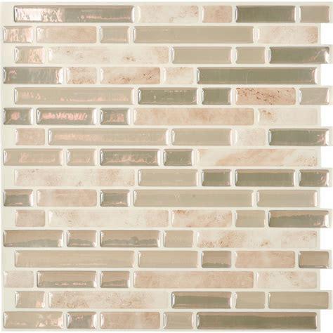 peel and stick glass tile peel and stick metal wall tile walmart