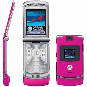 Motorola RAZR V3 Flip Camera Bluetooth Pink Phone AT&T ...