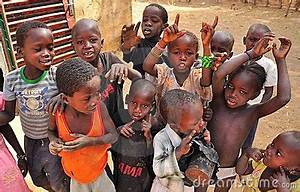 Group Of African Children Singing Editorial Stock Photo ...