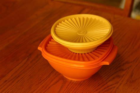 vintage tupperware vintage tupperware orange and yellow tupperware