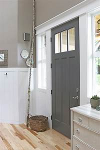 Charcoal, Painted, Front, Door, -, The, Inspired, Room, Benjamin, Moore