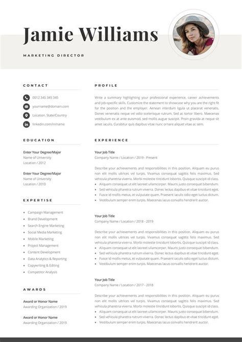 creative resume template  photo elegant design