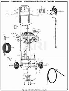 Homelite Ps80519b Powerstroke Pressure Washer Mfg  No  090079293 Parts Diagram For General