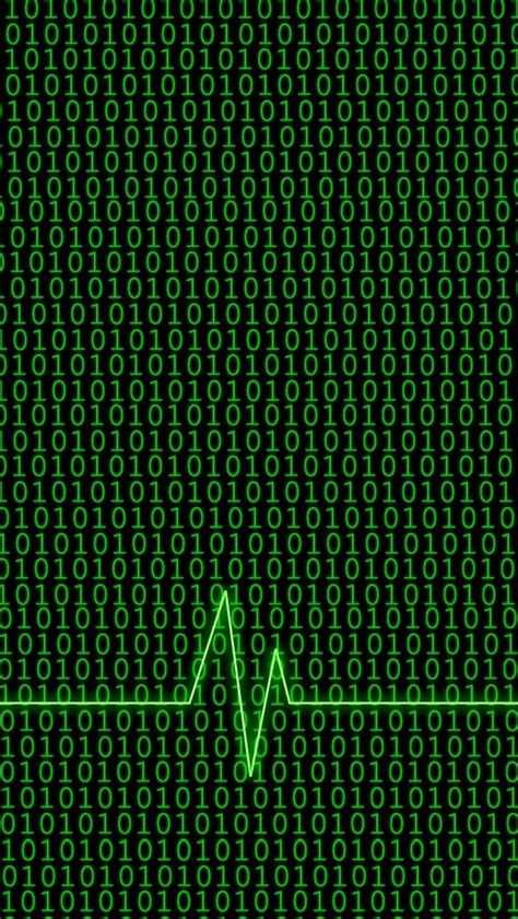 binary code  heartbeat  iphone wallpapers