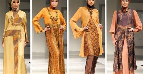 gambar model kebaya muslim modern  warna coklat krem