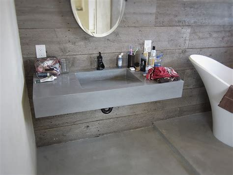 how to attach sink to vanity a floating concrete vanity with integral sink is a unique