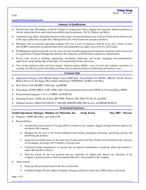 10 acupuncture resume templates and 2015 exles 2