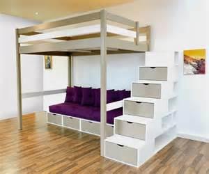 mezzanine canape photo lit mezzanine 2 places avec canape lit chaios com