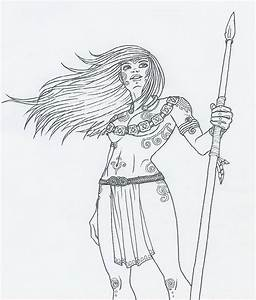 Celtic Warrior Chick by KidaGreenleaf on DeviantArt