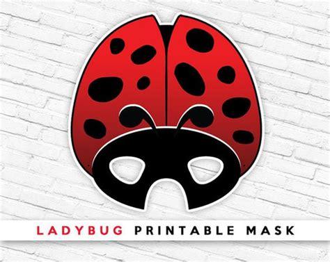 ladybug printable mask ladybird mask red beetle mask