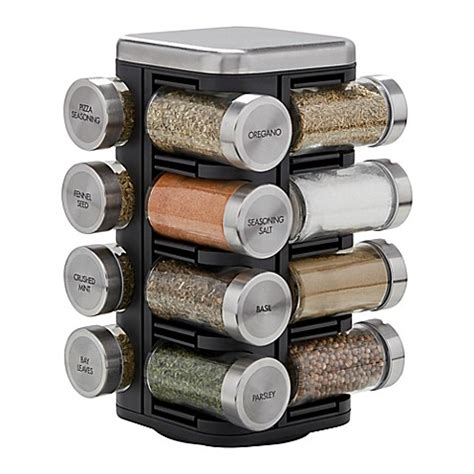 Kamenstein 16 Jar Spice Rack by Buy Kamenstein 174 16 Jar Plaza Spice Rack From Bed Bath Beyond