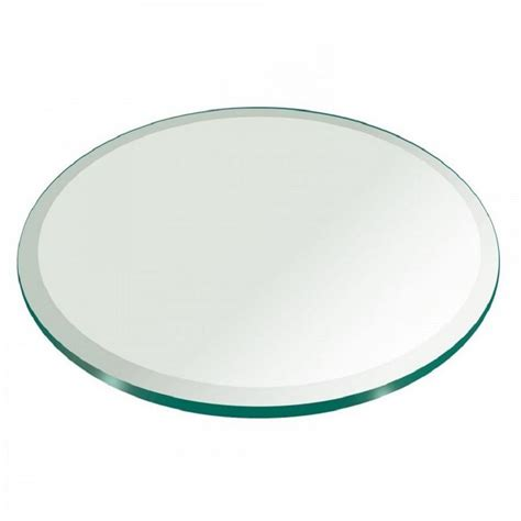 thick glass table top fab glass and mirror 42 in round 3 4 in thick beveled