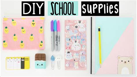 diy school supplies    school youtube