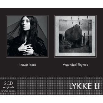 i never learn wounded rhymes lykke li cd album achat prix fnac