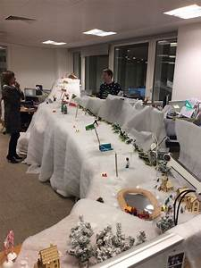 Office, Desk, Christmas, Decoration, Competition