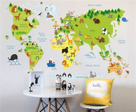 World map wall decal nz elitflat huge world map decal gallery word map images and download gumiabroncs Images