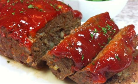Bake an additional 15 minutes or until meat loaf is no longer pink. Ingredients 1/2 cup packed brown sugar 1/2 cup ketchup 1 1/2 pounds lean ground beef 3/4 cup ...