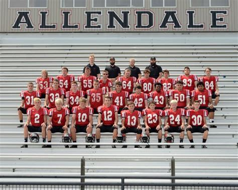 allendale high school boys junior varsity football fall schedule