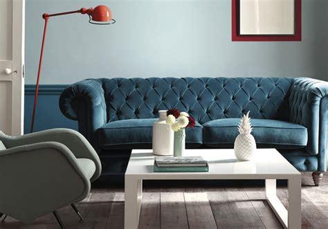 canapé edition le bleu roi de nos intérieurs décoration