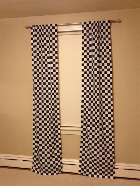 Checkered Flag Window Curtains by Pin By On And Jet